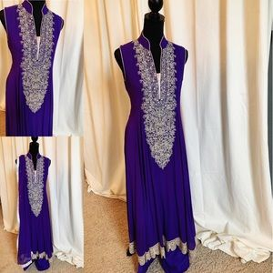 Bright Purple Pakistani Outfit